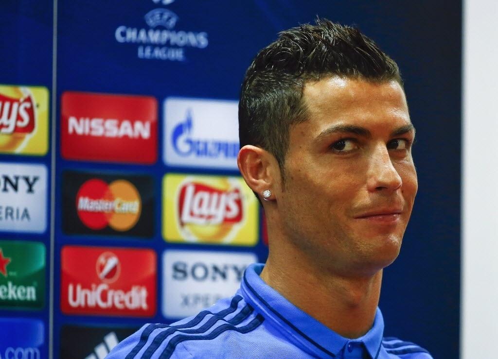 Cristiano Ronaldo concede entrevista coletiva à véspera de duelo do Real Madrid contra a Roma