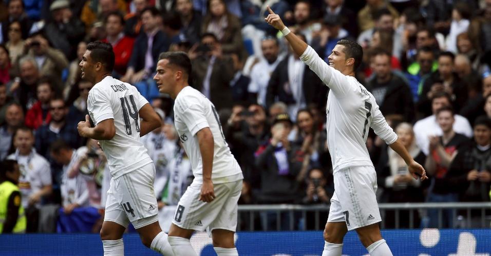 Cristiano Ronaldo comemora gol do Real Madrid