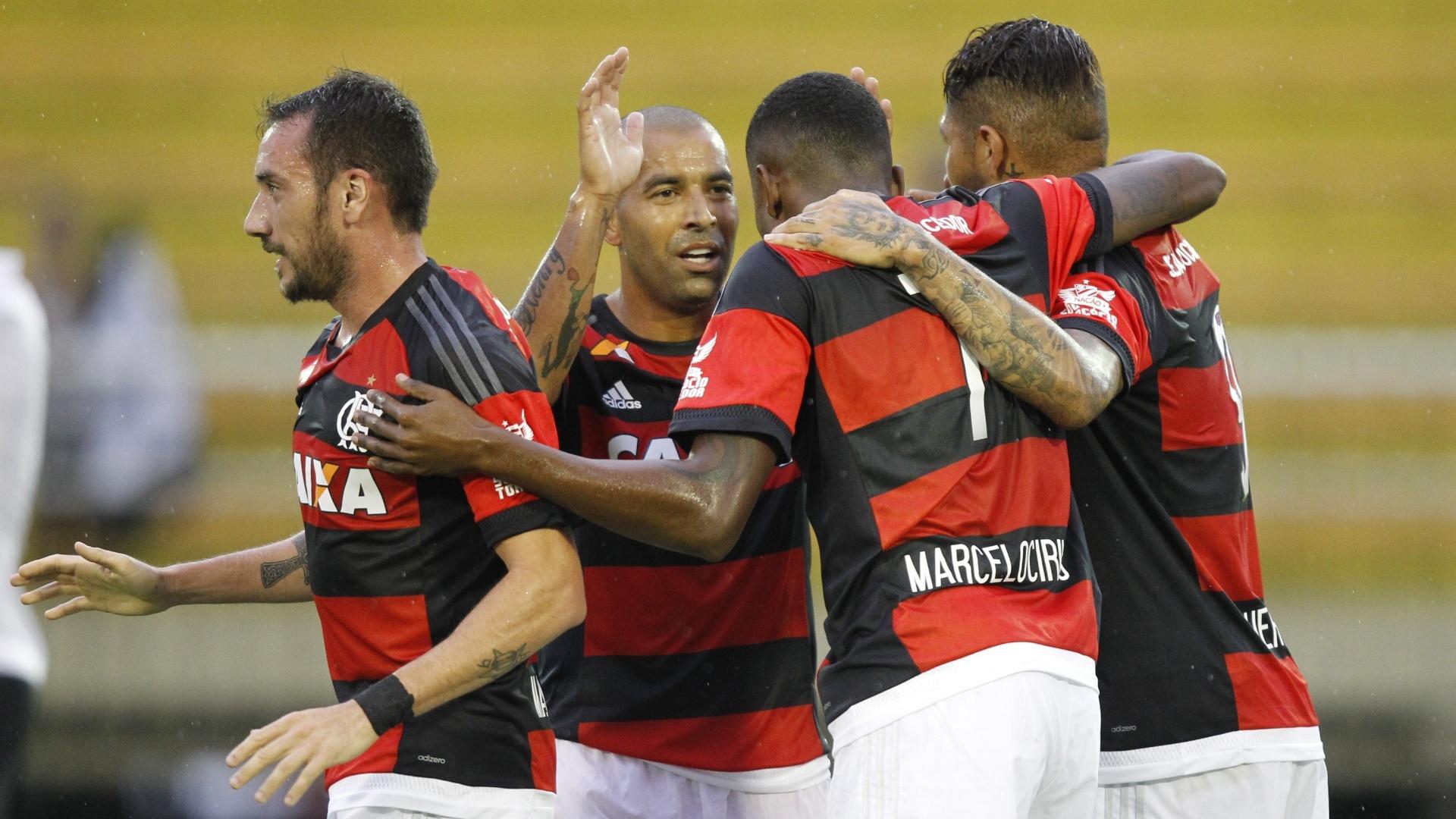Emerson Sheik e Marcelo Cirino foram os nomes da vitória do Flamengo sobre o Resende