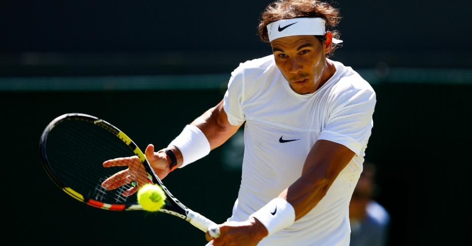 Rafael Nadal em sua estreia em Wimbledon