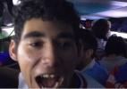 Uísque no bico, piadas e reforço palmeirense: a festa da torcida uruguaia