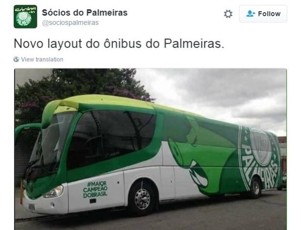 a60d64f200012 Palmeiras apresenta novo ônibus antes de semana de decisão no BR