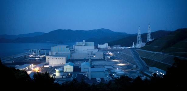 A usina nuclear de Shimane, da Elétrica Chugoku, em Kashima (Japão)