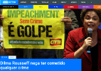 """Imprensa estrangeira destaca """"última batalha"""" de Dilma - Reprodução/RTP.pt"""