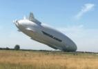 Maior aeronave do mundo é danificada ao aterrissar de nariz (Foto: BBC)