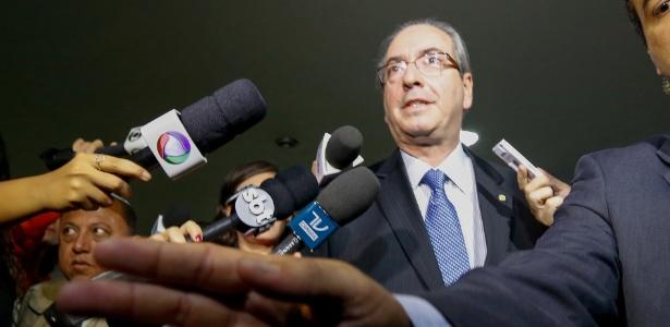 O presidente da Câmara dos Deputados, Eduardo Cunha (PMDB-RJ), chega ao Congresso nesta quinta-feira