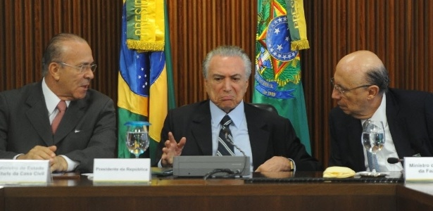 Presidente interino Michel Temer comanda primeira reunião ministerial no Palácio do Planalto, em Brasília