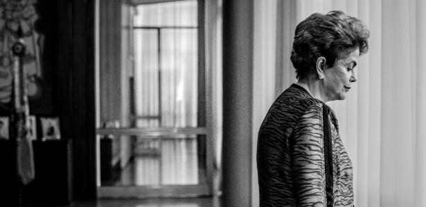 A presidente afastada, Dilma Rousseff, durante entrevista no Palácio do Alvorada