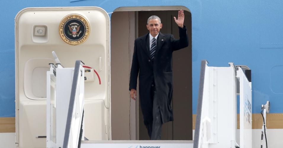 Barack Obama desembarca na Alemanha