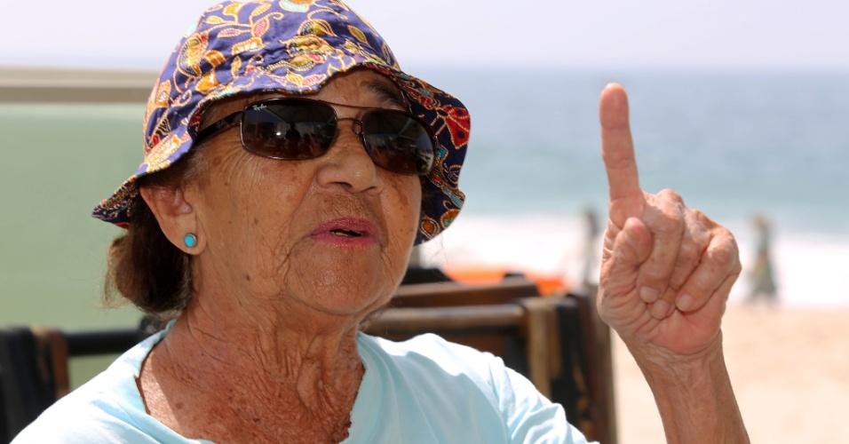 24.set.2015 - Segundo Dulce Cantanhede, 82, os arrastões de hoje são mais graves porque os criminosos