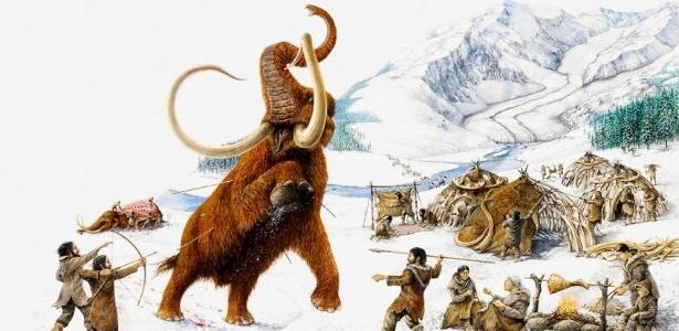 Para caçar mamutes no Ártico, humanos tinham que ter ferramentas de caça, roupas apropriadas e aquecidas para sobreviver na região