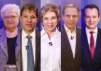 Ibope: Russomanno, 33%; Marta, 17%; Erundina, Haddad e Doria empatam com 9% (Foto: Arte/UOL)