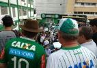 Arena Condá recebe homenagem à vítimas de tragédia da Chapecoense - Douglas Magno/AFP