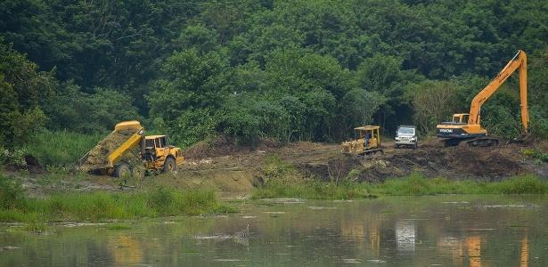 Lançamento não autorizado elevou o nível de sedimentos na lagoa
