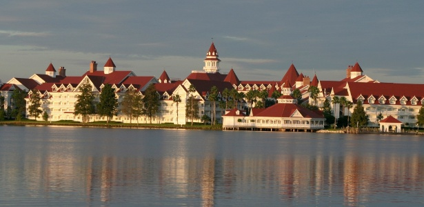 Vista do Grand Floridian Resort and Spa, localizado no Magic Kingdom, o principal parque da Disney