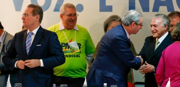 17.nov.2015 - Lideranças do PMDB participam de reunião do partido em Brasília