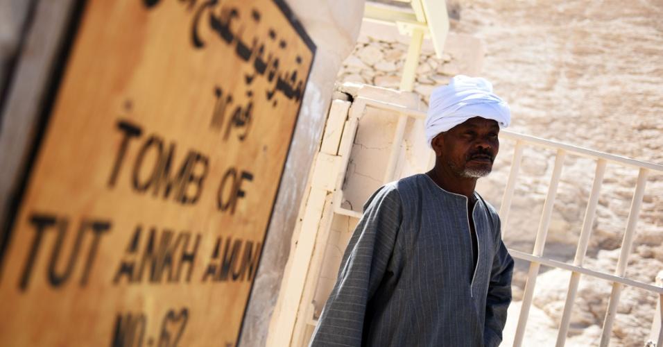 1.abr.2016 - Entrada da tumba de Tutancâmon, no Egito