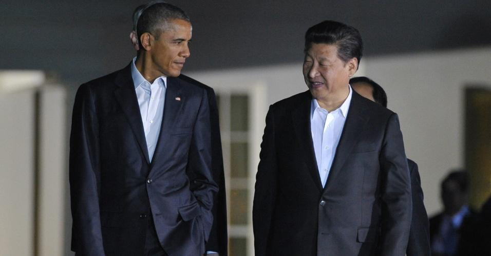 Barack Obama e Xi Jinping na Casa Branca