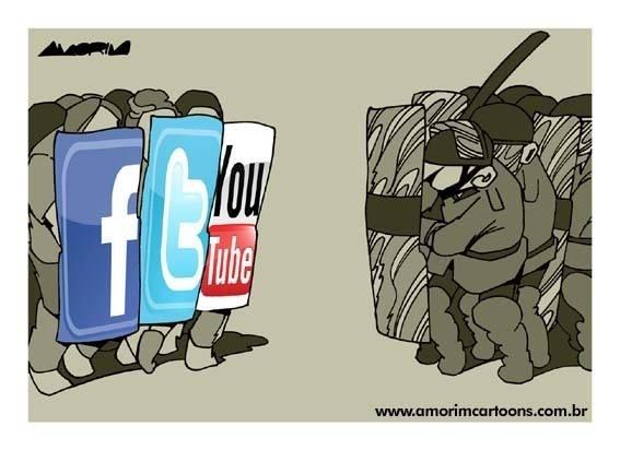17.jun.2013 - Charge de Carlos Amorim destaca o uso das redes sociais na organização dos protestos contra o aumento da tarifa do transporte público em diversas cidades do Brasil.