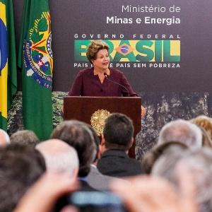 18.jun.2013 - A presidente Dilma Rousseff discursa durante cerimônia de lançamento do Marco Regulatório da Mineração