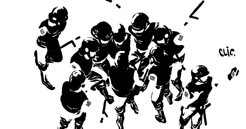 19.jun.2013 - Policiais da tropa de choque aparecem na charge de Rafael Coutinho sobre os protestos contra o aumento da tarifa do transporte público. De acordo o chargista, este trabalho vai integrar uma publicação especial organizada por quadrinista de todo o Brasil para arrecadar dinheiro para o movimento Passe Livre