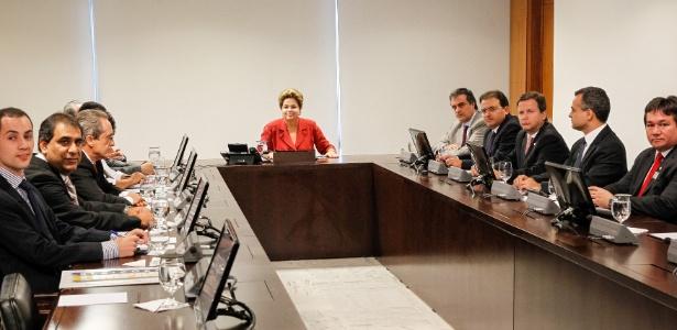 Dilma Rousseff participou de reunião com o presidente da OAB (Ordem dos Advogados do Brasi), Marcus Vinicius Furtado Coelho