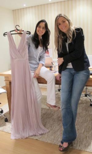 Empreendedoras Mariana Penazzo e Barbara Diniz, fundadoras da empresa de aluguel de vestidos de grife Dress&Go