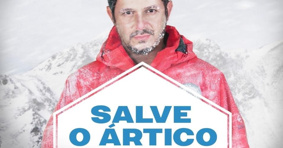 """11.jul.2013 - Alejandro Sanz fará uma travessia no extremo sul do Ártico com um grupo do Greenpeace entre os dias 14 e 20 de julho de 2013. A travessia faz um apelo para criar uma região protegida no polo Norte onde se proíba a extração petrolífera e a pesca industrial. """"Temos que ter consciência que, se salvarmos o Ártico, salvaremos muito mais. É a batalha ambiental mais importante do momento, porque está em jogo um dos poucos lugares do planeta onde ainda existe um equilíbrio"""", diz o cantor espanhol, que é embaixador da campanha """"Salve o Ártico"""" da ONG"""