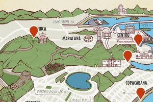 19jul2013   arte do infografico veja quais lugares o papa deve visitar durante a jmj 1374229766189 300x200 Após descanso, papa terá dia cheio, com viagem a Aparecida (SP) e visita a hospital