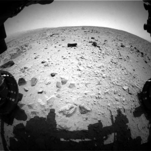 Superfície de Marte em imagem feita pelo robô Curiosity