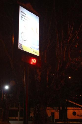 26.jul.2013 - Termômetro bate marca de 1ºC em Campos do Jordão (SP), nesta madrugada