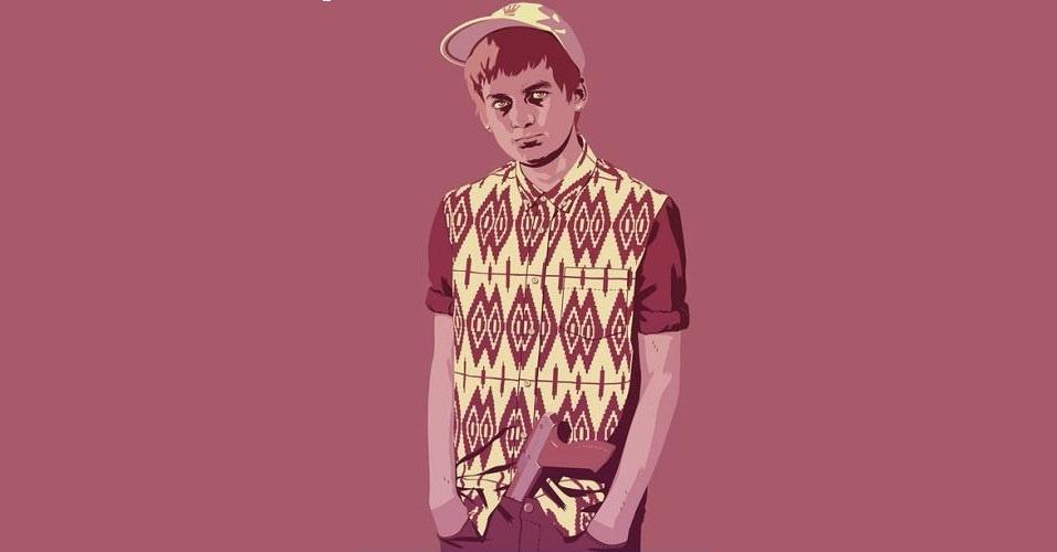 Na imagem, o personagem Joffrey Baratheon. Nas mãos do artista Mike Wrobel, os personagens de 'Game of Thrones' ganharam o jeitão dos anos 1980 e 1990