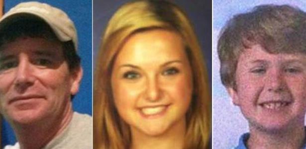 James Dimaggio, 40, suspeito pelo sequestro de Hannah (ao centro) e pela morte da mãe e do irmão dela (à direita) era amigo da família há anos. Ele foi morto neste sábado (10) por um agente do FBI