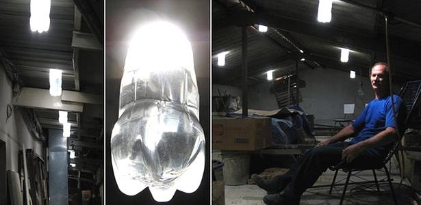 O mineiro Alfredo Moser criou a lâmpada 'engarrafada' durante a série de apagões que o Brasil enfrentou em 2002
