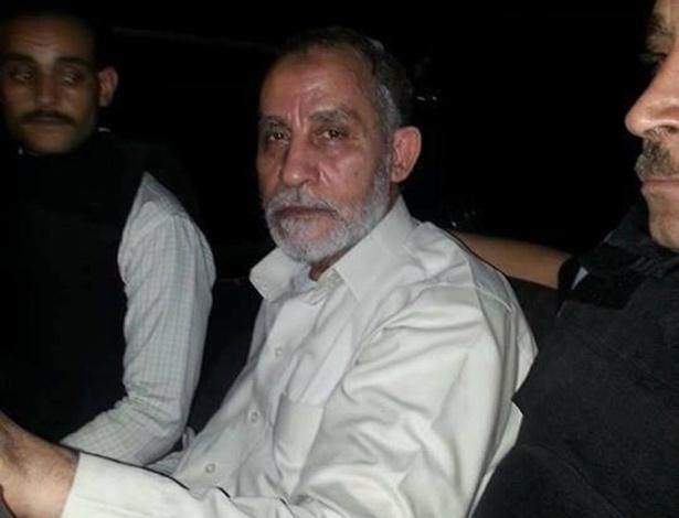 20.ago.2013 - Mohamed Badie, líder supremo da Irmandade Muçulmana, aparece em foto divulgada nesta terça-feira (20) pela polícia do Egito, após ser preso por autoridades no Cairo