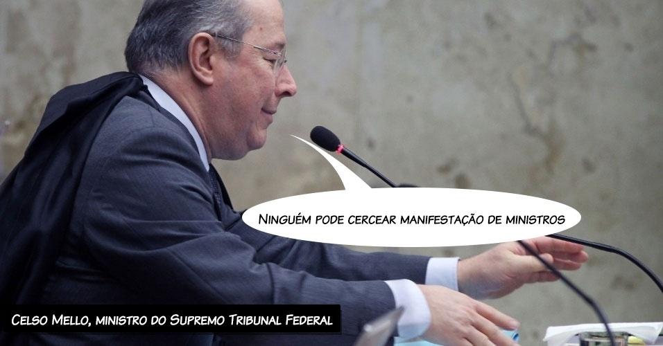 21.ago.2013 - O decano do STF (Supremo Tribunal Federal), Celso de Mello, afirmou que
