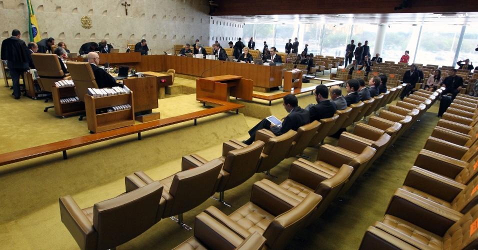 22.ago.2013 - Ministros do STF (Supremo Tribunal Federal) retomam nessa quinta-feira o julgamento dos recursos e embargos dos réus do mensalão (Ação Penal 470)