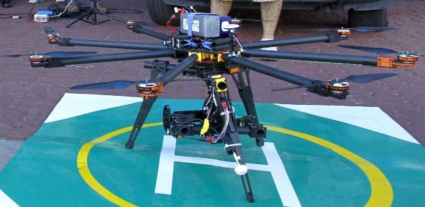 Drone utilizado pelo batalhão da PM em Macaé, no Rio de Janeiro, em operações contra o tráfico de drogas
