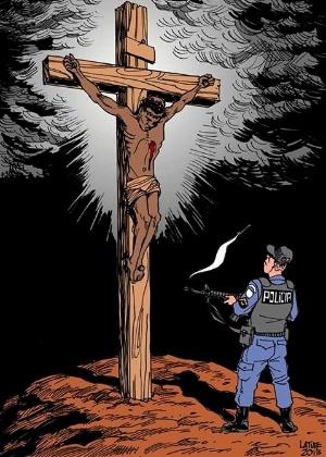 Charge de Carlos Latuff/Reprodução Facebook