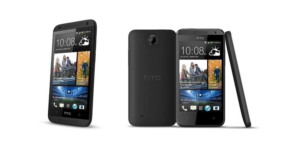 3.set.2013 - A fabricante taiwanesa HTC apresentou nesta terça-feira (3) dois modelos de smartphone de entrada da marca: o Desire 601 (e) e o Desire 300