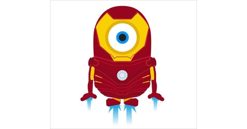 Os Minions, da franquia de filmes 'Meu Malvado Favorito', ganhou dezenas de versões diferentes nas mãos dos usuários. Na imagem, o Minion 'imitando' o personagem Homem de Ferro