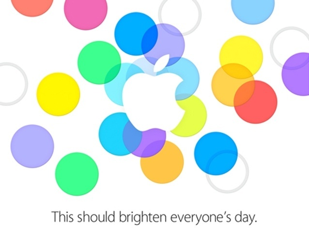 Convite da Apple enviado à imprensa internacional para o evento desta terça (10). Há rumores de que sejam feitos, pelo menos, três anúncios: a liberação do iOS 7 (nova versão do sistema operacional móvel da empresa) e duas novas versões do iPhone.
