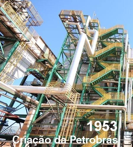 criação da petrobrás plataforma de petróleo