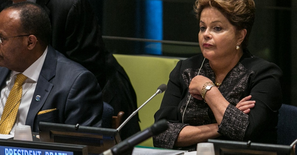 "24set;2013- A presidente Dilma Rousseff participa da mesa de abertura do Foro Polí­tico de Alto Ní­vel sobre Desenvolvimento Sustentável ""Building the future we want: from Rio +20 to the Post-2015 Development Agenda"""