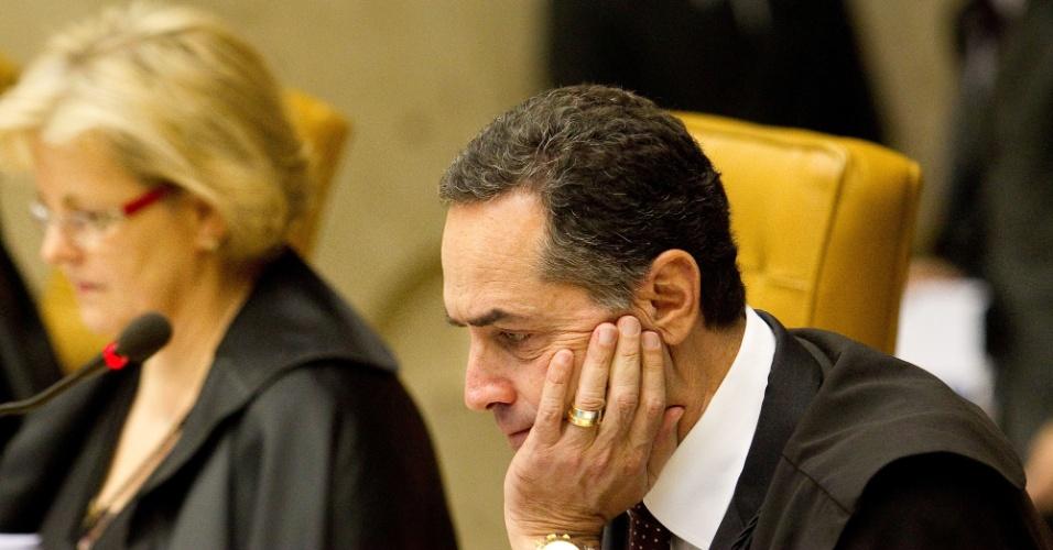 26.set.2013 - Ministro Roberto Barroso participa de sessão do STF presidida pelo ministro Ricardo Lewandowski