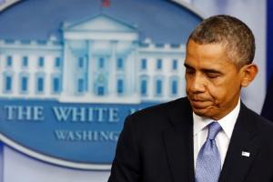 O presidente dos Estados Unidos, Barack Obama, faz pronunciamento sobre a situação fiscal do país na Casa Branca, em Washington