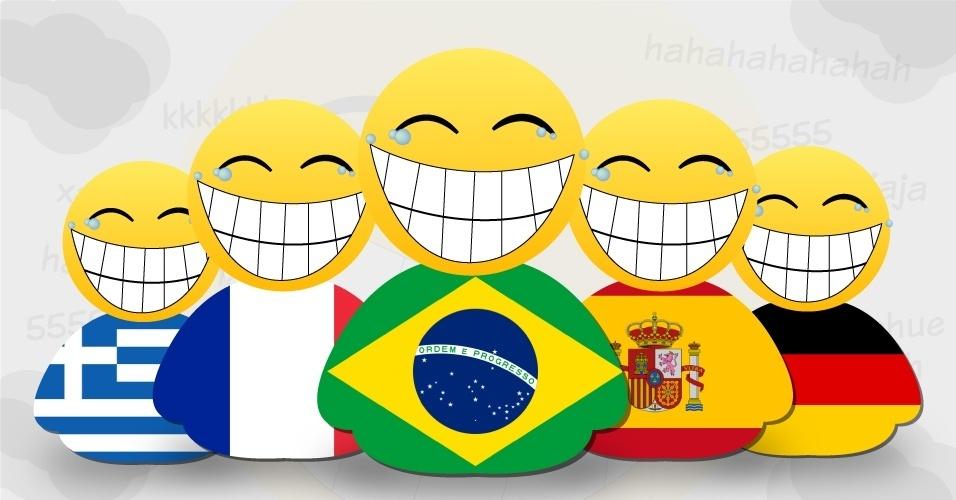 Os brasileiros são famosos na internet por sua risada característica