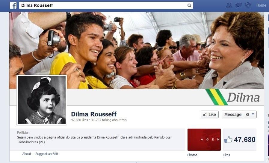 Dilma Rousseff troca foto de seu perfil no Facebook por imagem de sua infância
