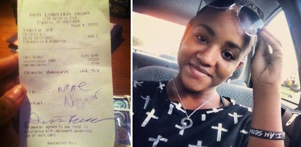 Toni Christina Jenkins, 19, postou no Facebook a foto de uma conta com xingamento racista