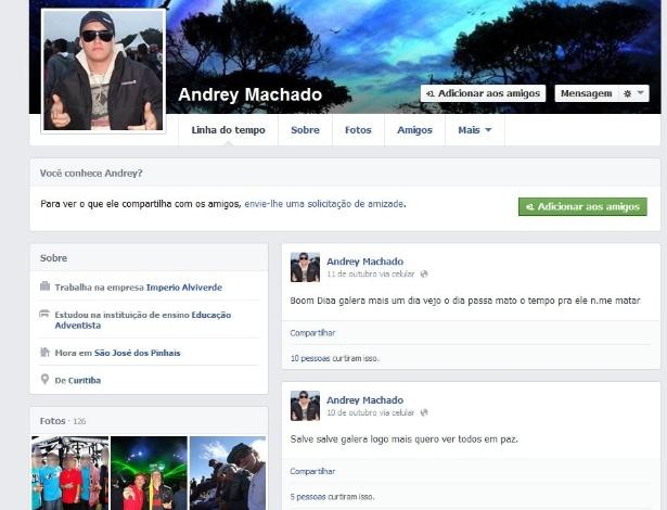 Preso interagiu com amigos por meio de mensagem e publicou trecho de música dos Racionais MC's na rede